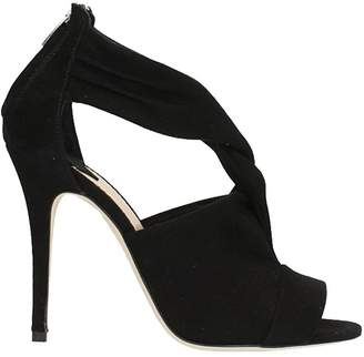 The Seller Knot Black Suede Sandals