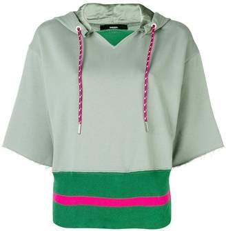 Diesel short-sleeve contrast hoodie