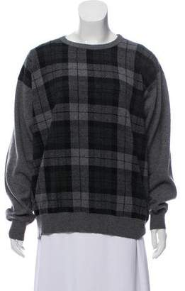 Malo Plaid Cashmere Sweater
