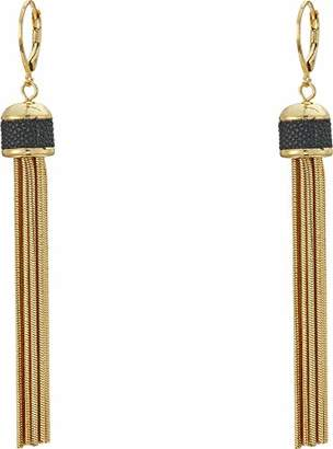 Vince Camuto Women's Tassel Earrings with Leather Inlay