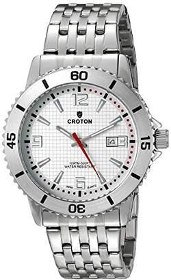 Croton Men's CA301288SSSL Analog Display Quartz Silver Watch
