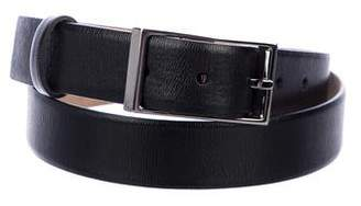 Valentino Buckle Skinny Leather Belt