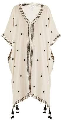 Velvet by Graham & Spencer Aubree Embroidered Cotton Gauze Midi Dress - Womens - Cream Multi