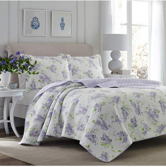 Laura Ashley Twin Keighley Pastel Purple Quilt Set Bedding
