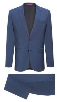 HUGO Boss Italian Wool Suit, Extra Slim Fit Astian/Hets 44S Blue