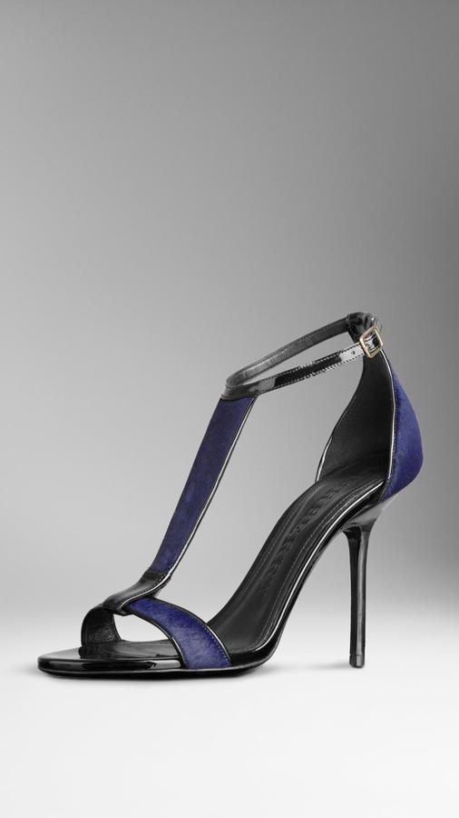 Burberry Glossy Calfskin Sandals