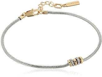 Kenneth Cole New York Women's Silver Tone Round Chain Anklet