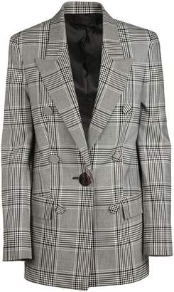 Alexander Wang Checked Double Breasted Blazer