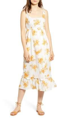 MinkPink Arcadia Floral Print Midi Dress