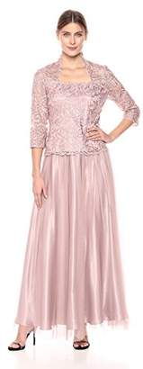 Alex Evenings Women's Two-Piece Dress with Blouse and Tulle Skirt