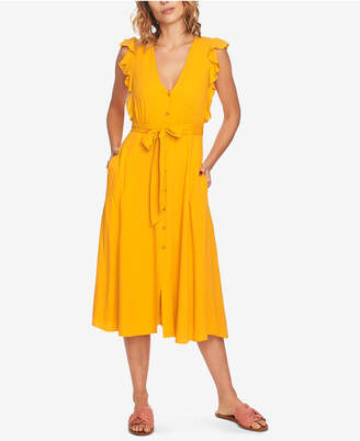 1 STATE 1.state Ruffled Midi Dress