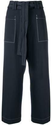 Tory Burch contrast stitch culottes