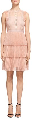 Whistles Anouk Pleated Lace Dress $499 thestylecure.com