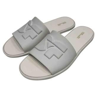 Diane von Furstenberg White Leather Sandals