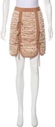 Self-Portrait Ruched Mini Skirt