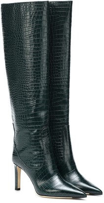 Jimmy Choo Mavis 85 leather knee-high boots