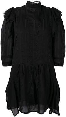 Etoile Isabel Marant frilled little black dress