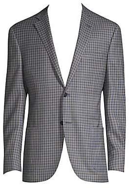 Corneliani Men's Checked Wool Jacket