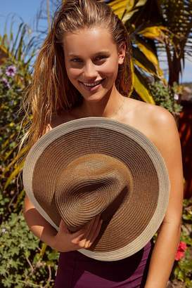 Urban Outfitters Colorblocked Straw Rancher Hat
