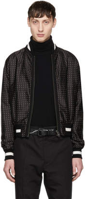 Haider Ackermann Black Micro Dot Bomber Jacket