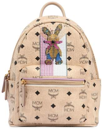 MCM Mini Faux Leather Backpack