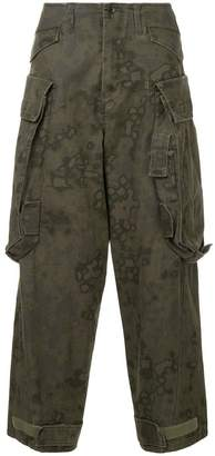 Julius camouflage tapered trousers