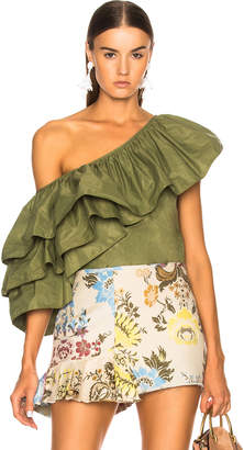 Marques Almeida Marques ' Almeida One Shoulder Ruffle Top