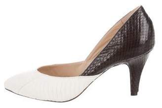 Loeffler Randall Snakeskin Bi-Color Pumps w/ Tags