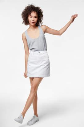 J Brand Bonny Mid-Rise Mini-Skirt In White