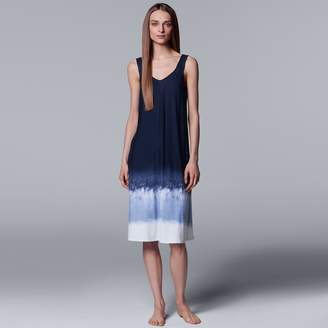 Vera Wang Women's Simply Vera Tie-Dye Long Chemise