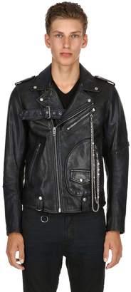 Diesel Leather Biker Jacket W/ Studs