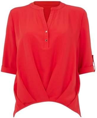 Dorothy Perkins Womens *Roman Originals Red Roll Sleeve Top