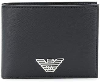Emporio Armani logo billfold wallet