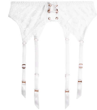 Agent Provocateur Daizy Floral-lace Suspender Belt - White