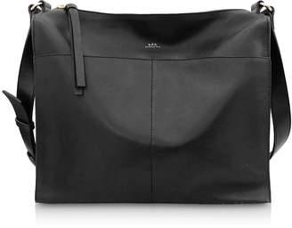 A.P.C. Suzanne Zip-Top Leather Shoulder Bag