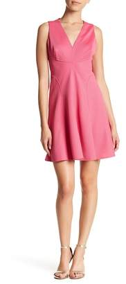 London Times Waffle Knit Fit & Flare Dress (Petite)