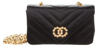 Chanel Chevron CC Pearl Flap Bag