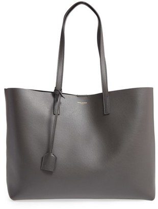 Saint Laurent 'Shopping' Leather Tote - Black $995 thestylecure.com