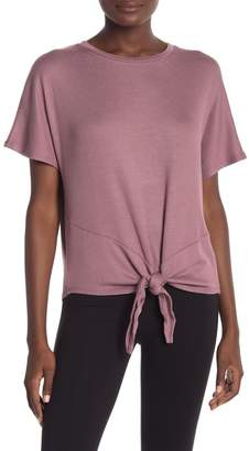 Andrew Marc Knotted Front Short Sleeve Tee