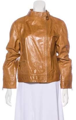 Marc Jacobs Leather Zip-Up Jacket