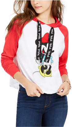 Disney By Modern Lux Juniors' Minnie Raglan-Sleeve Hoodie