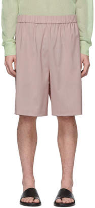 Tibi SSENSE Exclusive Pink Wool Shorts