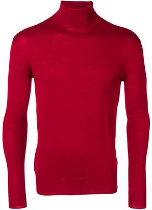 Raf Simons embroidered logo roll neck sweater