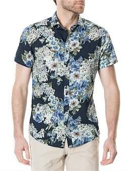 Rodd & Gunn Riccarton Park Short Sleeve Sports Fit Shirt Royal