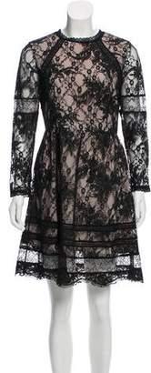 Alice + Olivia Lace Long Sleeve Dress
