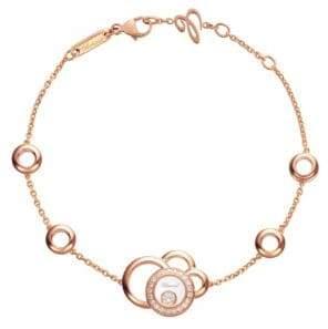 Chopard Happy Dreams Diamond& 18K Rose Gold Bracelet