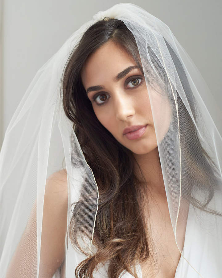 Etsy Pencil Edge Bridal Veil, 1 Layer Wedding Veil, Tulle Veil, Ivory Veil, White Veil, Ivory Veil, Veil