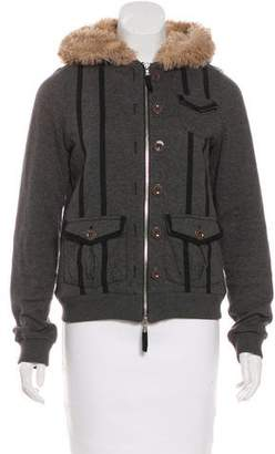 Marc by Marc Jacobs Faux Fur-Trimmed Jacket