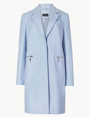 Marks and Spencer PETITE Wool Blend Single Breasted Coat