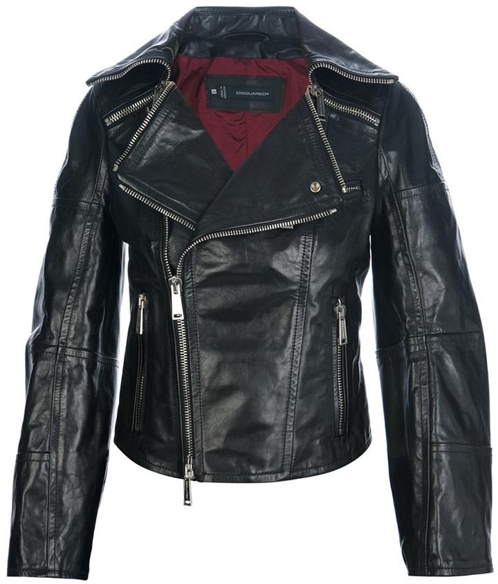 DSquared DSQUARED2 leather biker jacket